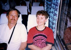 And then we got on the bus and moved on. Robert and Marsha.