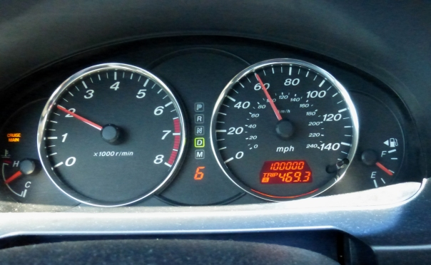 Hit the 100,000 mark just south of Flagstaff.